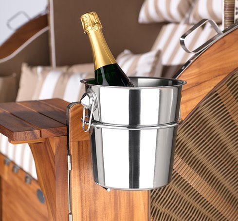 Accessory Champagne cooler and holder for Garden Lounger. Click to order now.