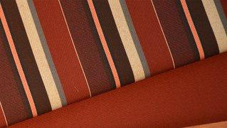 Burgundy Tan Stripe from our Premium fabric collection