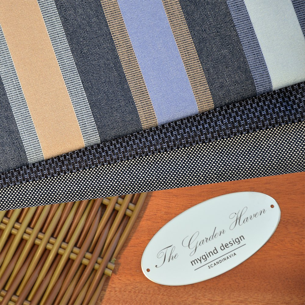 Azur Blue Tan Stripe