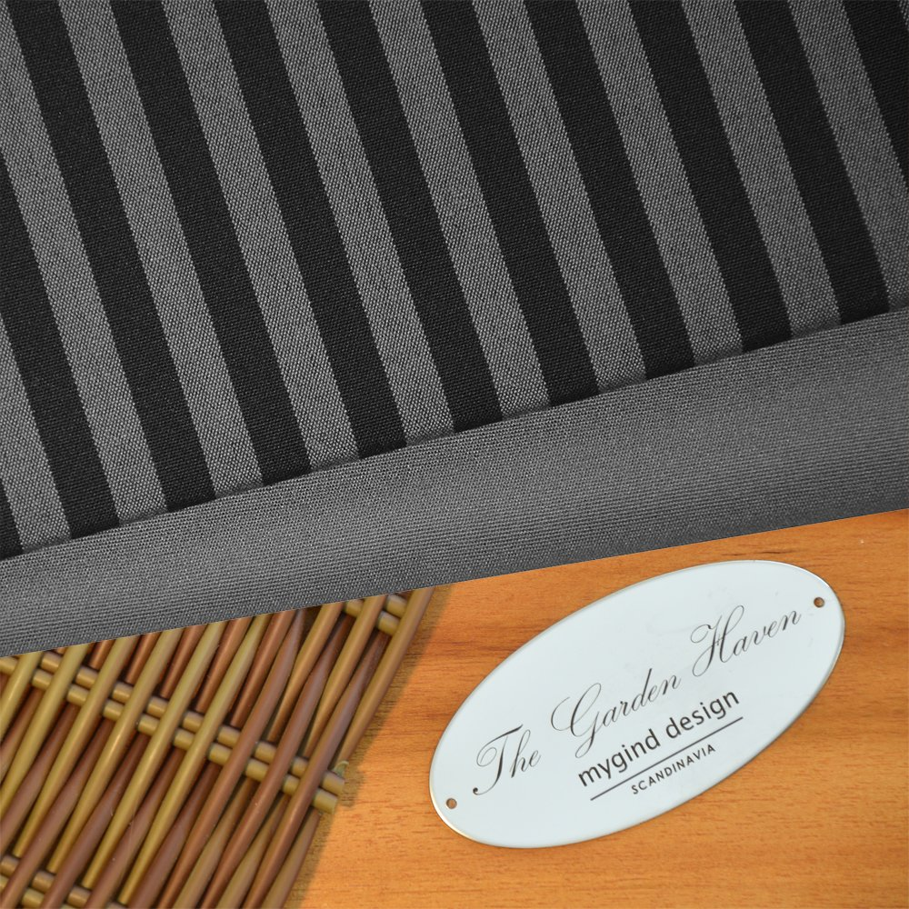 Hampton Grey Black Stripe